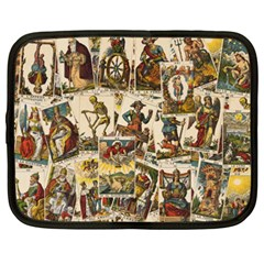 Tarot Cards Pattern Netbook Case (xxl)  by Valentinaart
