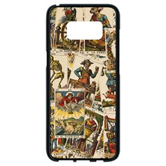 Tarot Cards Pattern Samsung Galaxy S8 Black Seamless Case by Valentinaart