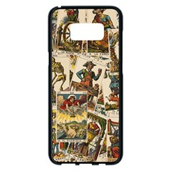 Tarot Cards Pattern Samsung Galaxy S8 Plus Black Seamless Case by Valentinaart