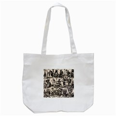 Tarot Cards Pattern Tote Bag (white) by Valentinaart