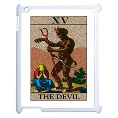 The Devil   Tarot Apple Ipad 2 Case (white) by Valentinaart