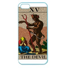 The Devil   Tarot Apple Seamless Iphone 5 Case (color) by Valentinaart