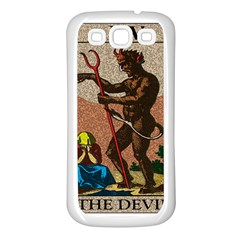 The Devil   Tarot Samsung Galaxy S3 Back Case (white) by Valentinaart