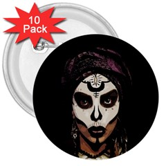 Voodoo  Witch  3  Buttons (10 Pack)  by Valentinaart