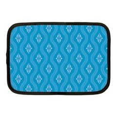 Blue Ornamental Pattern Netbook Case (medium)  by TastefulDesigns