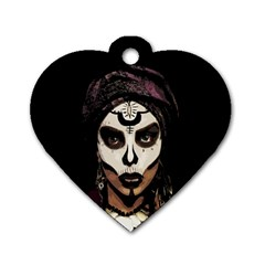Voodoo  Witch  Dog Tag Heart (two Sides) by Valentinaart