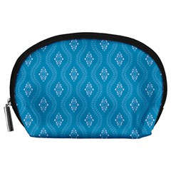 Blue Ornamental Pattern Accessory Pouches (large)  by TastefulDesigns