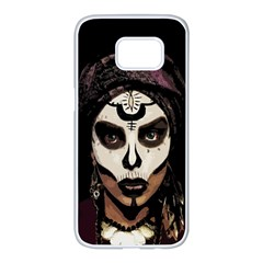 Voodoo  Witch  Samsung Galaxy S7 Edge White Seamless Case by Valentinaart