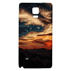 Landscape Galaxy Note 4 Back Case by Valentinaart