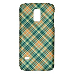 Teal Plaid 1 Galaxy S5 Mini by NorthernWhimsy