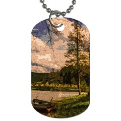 Landscape Dog Tag (two Sides) by Valentinaart