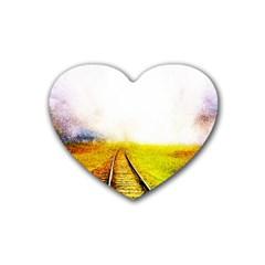 Landscape Heart Coaster (4 Pack)  by Valentinaart
