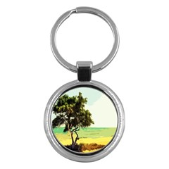 Landscape Key Chains (round)  by Valentinaart