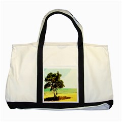 Landscape Two Tone Tote Bag by Valentinaart