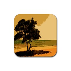 Landscape Rubber Square Coaster (4 Pack)  by Valentinaart