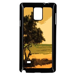 Landscape Samsung Galaxy Note 4 Case (black) by Valentinaart