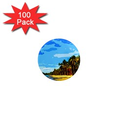 Landscape 1  Mini Magnets (100 Pack)  by Valentinaart