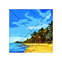 Landscape Acrylic Tangram Puzzle (4  X 4 ) by Valentinaart