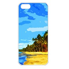 Landscape Apple Iphone 5 Seamless Case (white) by Valentinaart