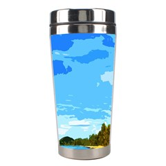 Landscape Stainless Steel Travel Tumblers by Valentinaart