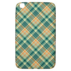Teal Plaid 1 Samsung Galaxy Tab 3 (8 ) T3100 Hardshell Case  by NorthernWhimsy