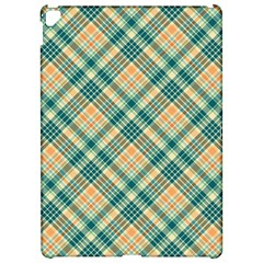 Teal Plaid 1 Apple Ipad Pro 12 9   Hardshell Case by NorthernWhimsy