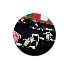 Formula 1 Rubber Coaster (round)  by Valentinaart