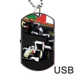 Formula 1 Dog Tag Usb Flash (two Sides) by Valentinaart