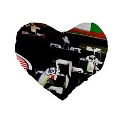 Formula 1 Standard 16  Premium Heart Shape Cushions by Valentinaart