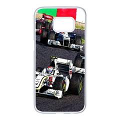 Formula 1 Samsung Galaxy S7 Edge White Seamless Case by Valentinaart