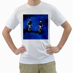 Motorsport  Men s T Shirt (white)  by Valentinaart