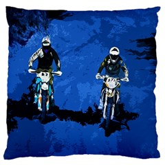 Motorsport  Large Flano Cushion Case (two Sides) by Valentinaart