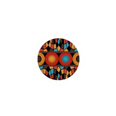 Colorful Geometric Composition 1  Mini Buttons by linceazul