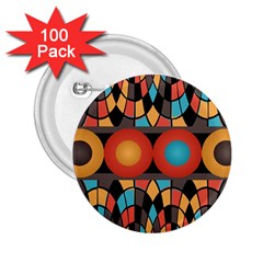 Colorful Geometric Composition 2 25  Buttons (100 Pack)  by linceazul