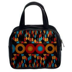 Colorful Geometric Composition Classic Handbags (2 Sides) by linceazul