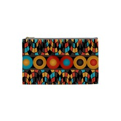 Colorful Geometric Composition Cosmetic Bag (small)  by linceazul
