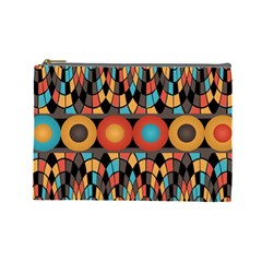 Colorful Geometric Composition Cosmetic Bag (large)  by linceazul