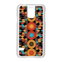 Colorful Geometric Composition Samsung Galaxy S5 Case (white) by linceazul