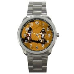 Motorsport  Sport Metal Watch by Valentinaart