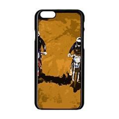 Motorsport  Apple Iphone 6/6s Black Enamel Case by Valentinaart