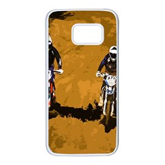 Motorsport  Samsung Galaxy S7 White Seamless Case by Valentinaart