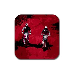 Motorsport  Rubber Square Coaster (4 Pack)  by Valentinaart