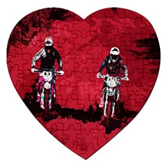 Motorsport  Jigsaw Puzzle (heart) by Valentinaart