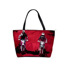 Motorsport  Shoulder Handbags by Valentinaart