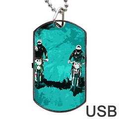 Motorsport  Dog Tag Usb Flash (one Side) by Valentinaart