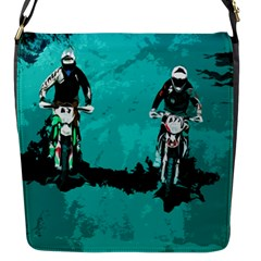 Motorsport  Flap Messenger Bag (s) by Valentinaart