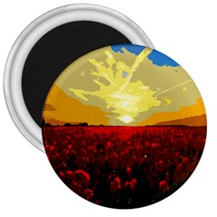 Poppy Field 3  Magnets by Valentinaart
