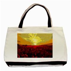 Poppy Field Basic Tote Bag by Valentinaart