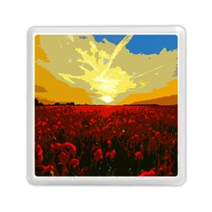 Poppy Field Memory Card Reader (square)  by Valentinaart