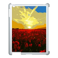 Poppy Field Apple Ipad 3/4 Case (white) by Valentinaart